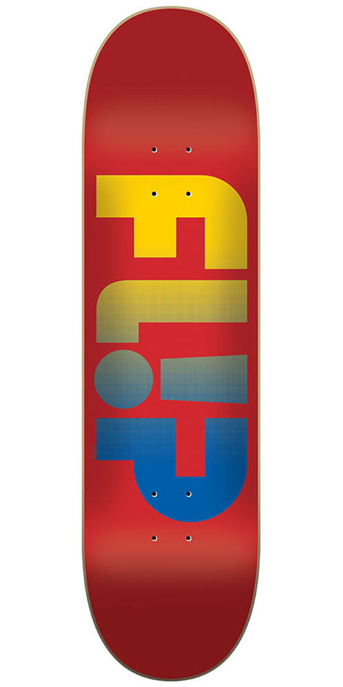Flip Team Odyssey Faded Team Skateboard Deck - Red - 8.50in x 32.75in