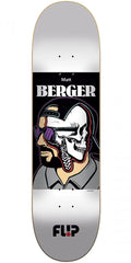 Flip Berger Every Which Way Skateboard Deck - Silver - 8.0in x 31.8in