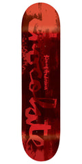 Chocolate Anderson Hype Paint Skateboard Deck - Red - 8.125in