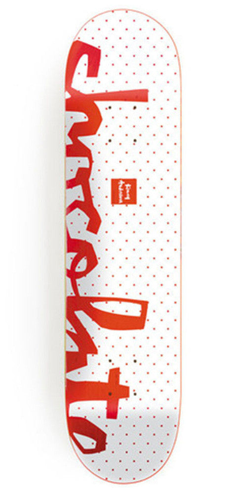 Chocolate Anderson Floater Chunk Skateboard Deck - White - 8.125in x 31.625in