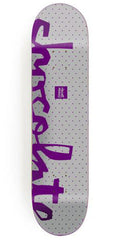 Chocolate Alvarez Floater Chunk Skateboard Deck - White - 8.25in x 32.0in