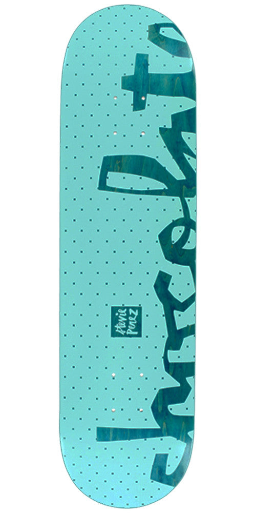 Chocolate Perez Floater Chunk Skateboard Deck - Teal - 8.125in x 31.625in