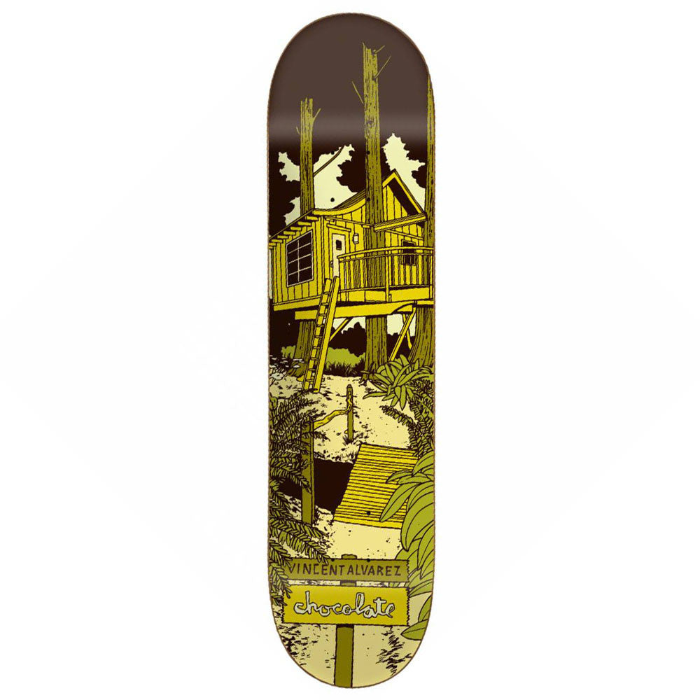 Chocolate Alvarez Tree House Skateboard Deck - Yellow - 8.25in x 32.0in