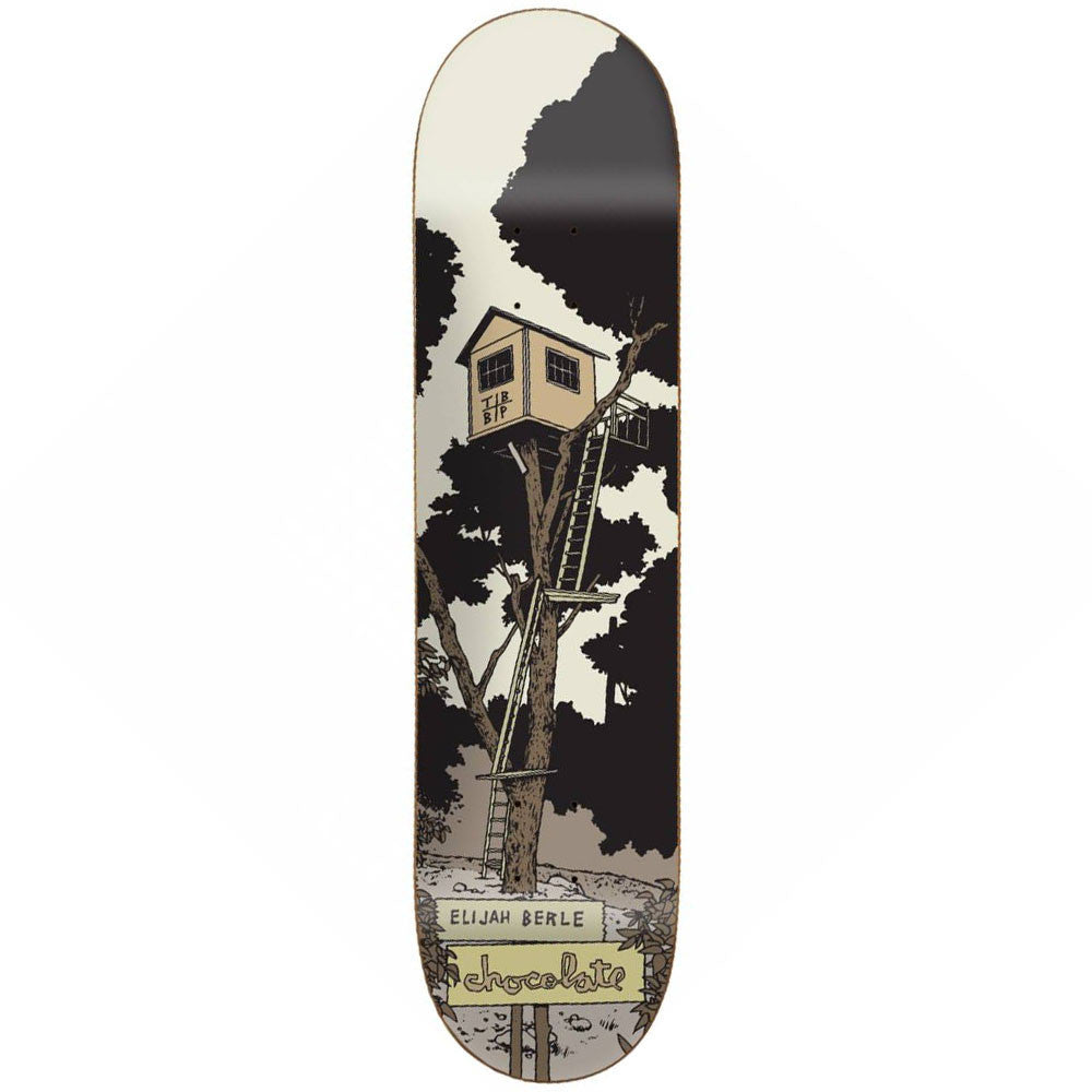 Chocolate Berle Tree House Skateboard Deck - Grey - 8.5in x 32.25in
