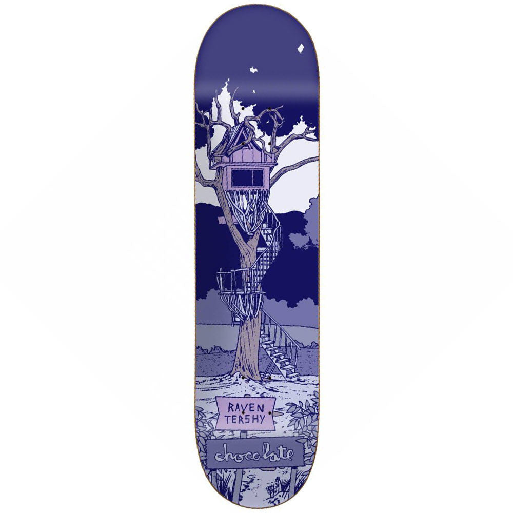 Chocolate Tershy Tree House Skateboard Deck - Blue - 8.375in x 31.75in