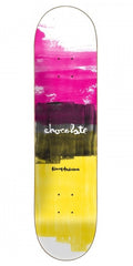 Chocolate Anderson Subtle Square Skateboard Deck - Pink/Black/Yellow - 8.125in x 31.625in