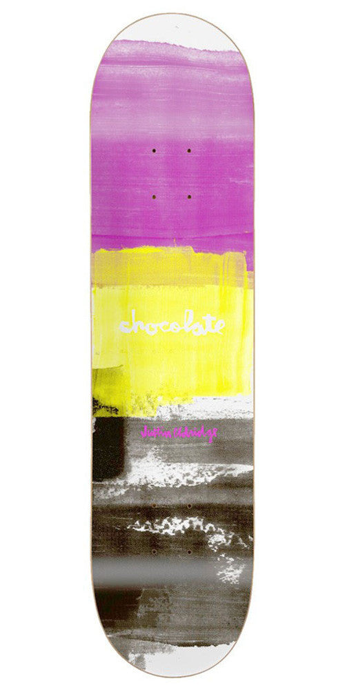 Chocolate Eldridge Subtle Square Skateboard Deck - Pink/Yellow/Black - 8.0in x 31.875in