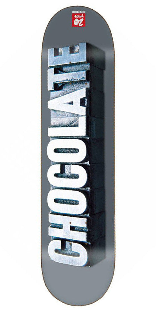 Chocolate Eldridge Heritage Skateboard Deck - Grey - 8.0in x 31.875in