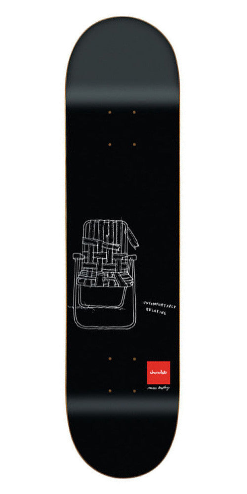 Chocolate Tershy Matte Sketch Skateboard Deck - Black - 8.375in x 31.75in