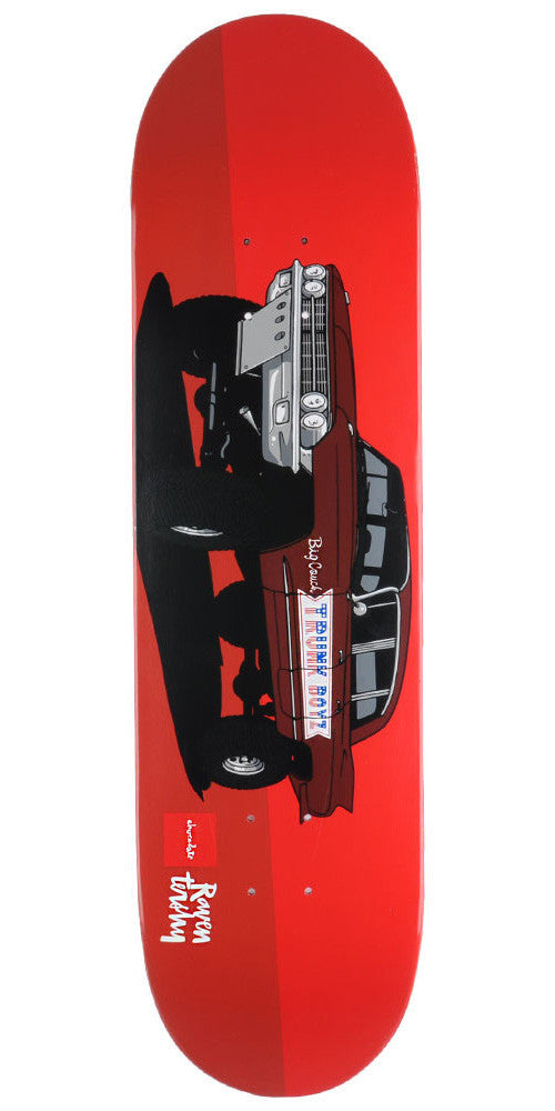 Chocolate Tershy Monster Trucks Skateboard Deck - Red - 8.375in x 31.75in
