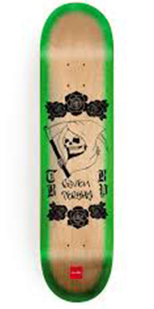 Chocolate Tershy Lupitas Skateboard Deck - Natural/Green - 8.375in x 31.75in
