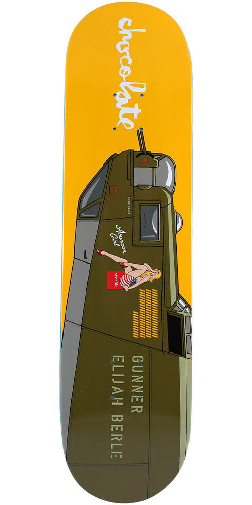 Chocolate Berle Bomber Skateboard Deck - Yellow - 8.0in x 31.5in