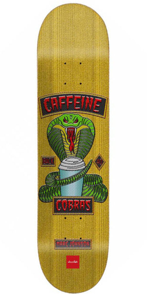 Chocolate Johnson Rider Patch Skateboard Deck - Yellow - 8.125in x 31.3in