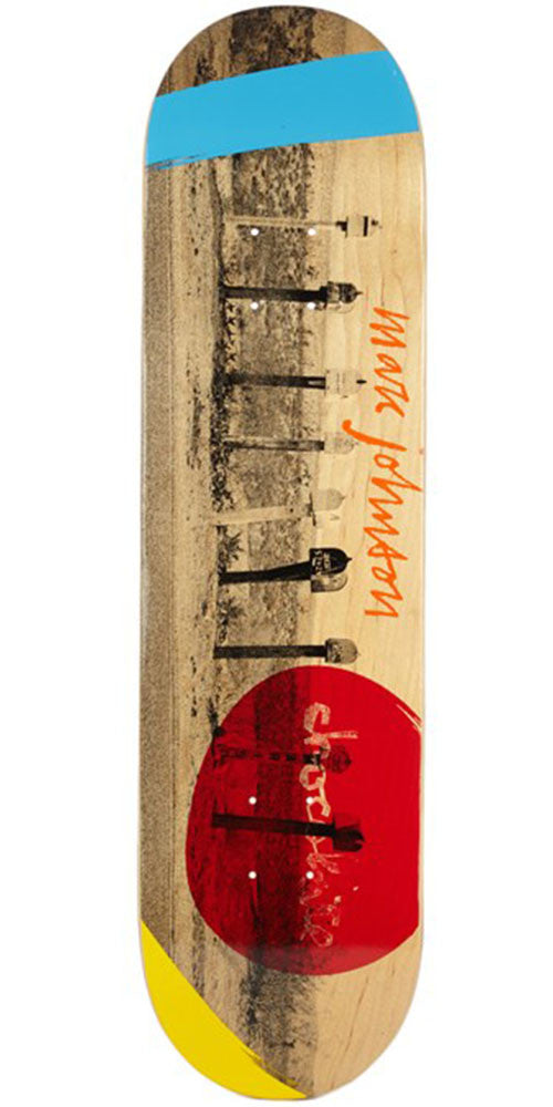 Chocolate Johnson High Desert Skateboard Deck - Natural - 8.125in x 31.3in