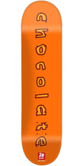 Chocolate Anderson Heritage Skateboard Deck - Orange - 8.125in x 31.625in