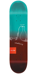 Chocolate Anderson Sketch Fade Skateboard Deck - Teal/Red - 8.125in x 31.625in