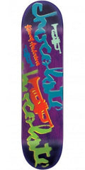 Chocolate Anderson Icon Stencil Skateboard Deck - Purple - 8.125in x 31.6in