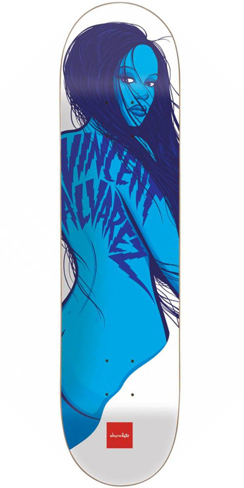 Chocolate Alvarez Choc Girls Skateboard Deck - White - 8.25in x 32.0in