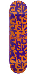 Chocolate Berle Deconstruct Skateboard Deck - Orange/Purple - 8.5in x 32.25in
