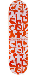 Chocolate Anderson Deconstruct Skateboard Deck - Orange/White - 8.125in x 31.6in