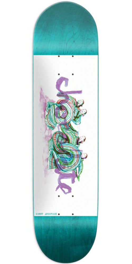 Chocolate Anderson Tradiciones Skateboard Deck - Teal/White - 8.125in x 31.625in
