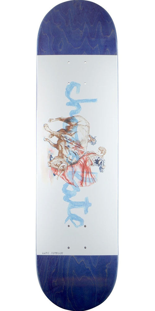 Chocolate Johnson Tradiciones Skateboard Deck - Blue/White - 8.125in x 31.3in
