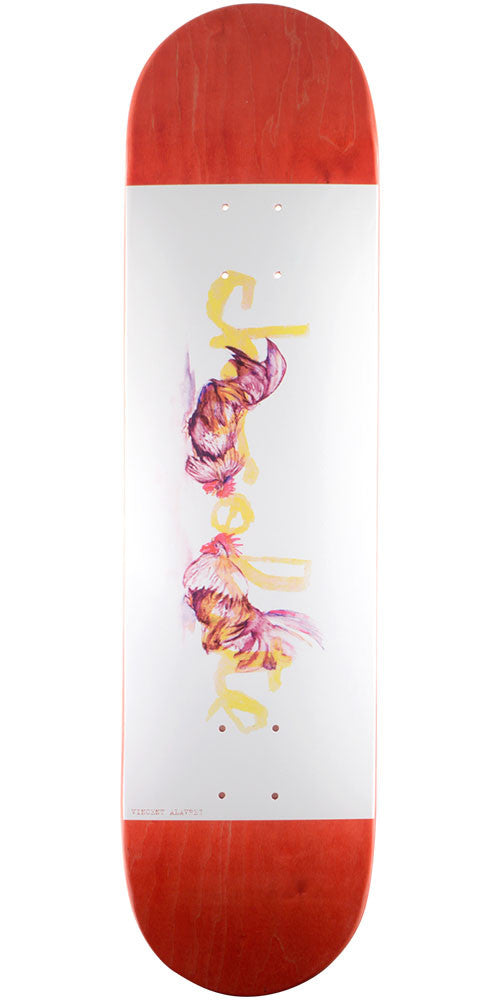 Chocolate Alvarez Tradiciones Skateboard Deck - Red/White - 8.0in x 31.5in