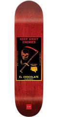 Chocolate Berle Black Magic Skateboard Deck - Red - 8.5in x 32.25in