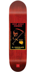 Chocolate Berle Black Magic Skateboard Deck - Red - 8.375in x 31.75in