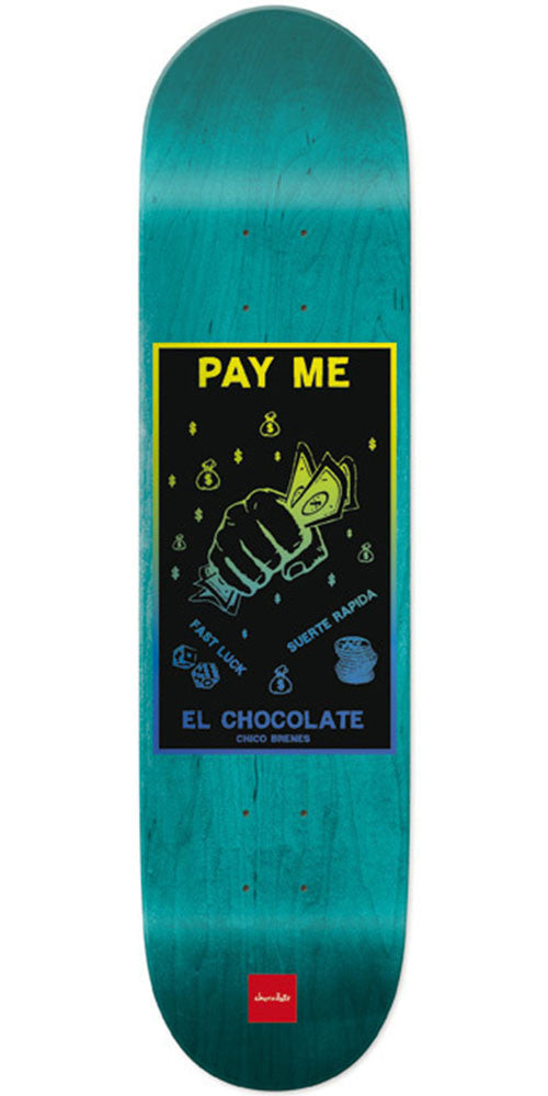 Chocolate Brenes Black Magic Skateboard Deck - Teal - 8.25in x 32.0in