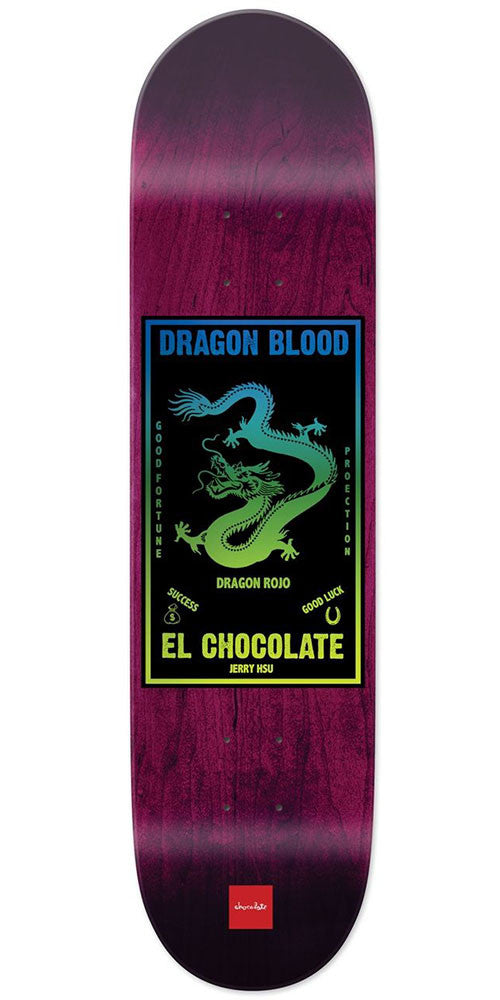 Chocolate HSU Black Magic Skateboard Deck - Purple - 8.0in x 31.875in
