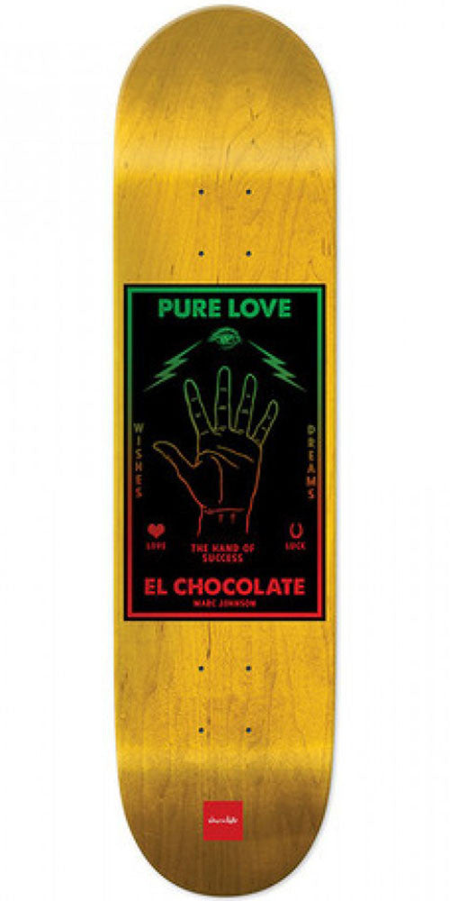 Chocolate Johnson Black Magic Skateboard Deck - Yellow - 8.125in x 31.3in