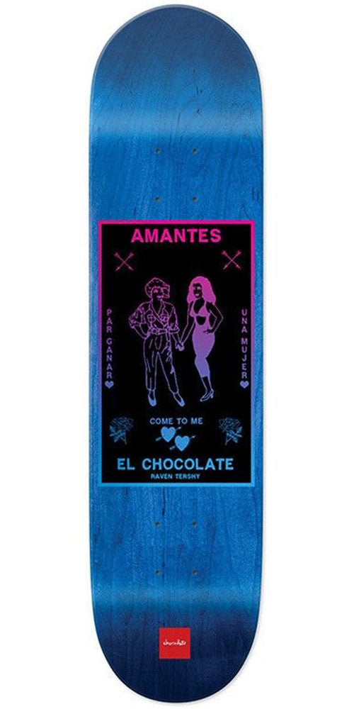 Chocolate Tershy Black Magic Skateboard Deck - Blue - 8.5in x 31.875in