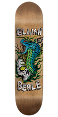 Chocolate Elijah Berle Skull and Snake Skateboard Deck - Natural - 8.00in x 31.875in