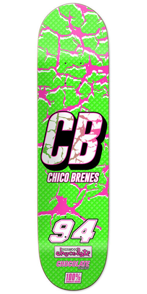 Chocolate Chico Brenes Braaaap Skateboard Deck - Green - 8.125in x 31.3in