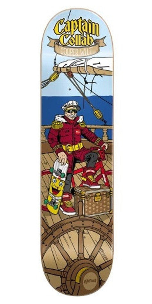 Almost Captain Collab R7 Cooper Wilt Skateboard Deck 8.1 - Brown
