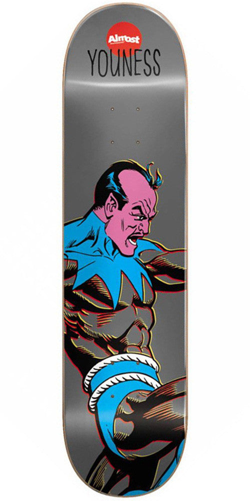 Almost Youness Amrani Sinestro R7 Skateboard Deck - Grey - 8.0