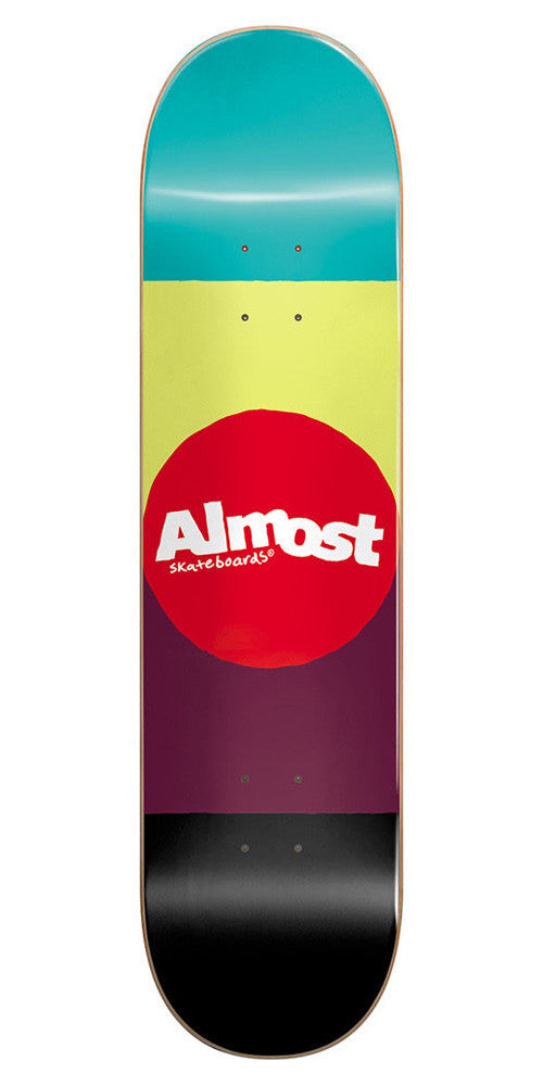 Almost Alps Color Block Skateboard Deck - 8.0 - Multi