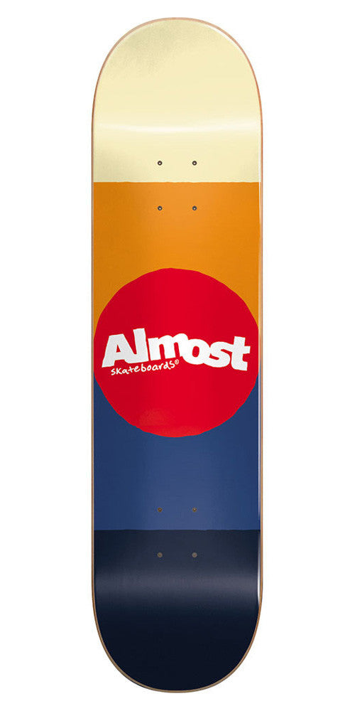 Almost Desert Color Block Skateboard Deck - 7.5 - Multi