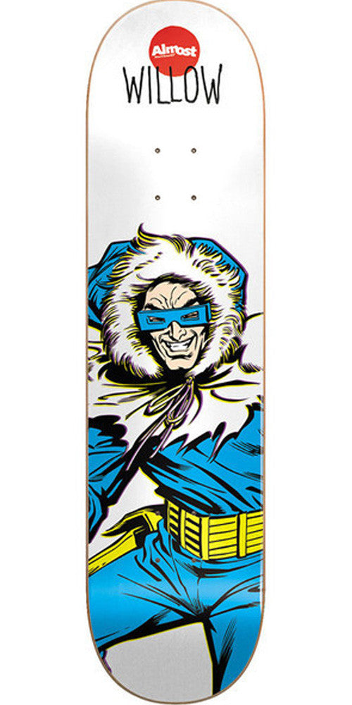 Almost Willow Captain Cold R7 Skateboard Deck - White - 7.75