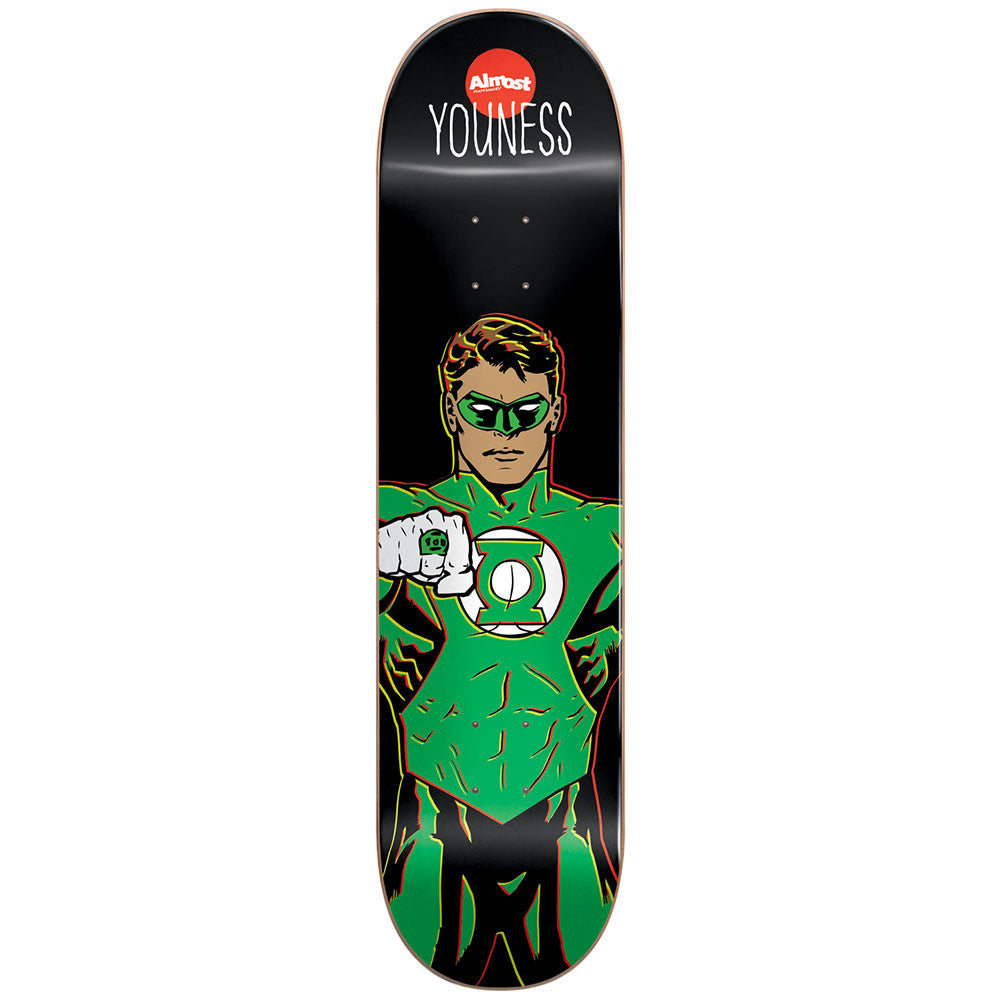 Almost Youness Amrani Green Lantern R7 Skateboard Deck - Black - 8.25