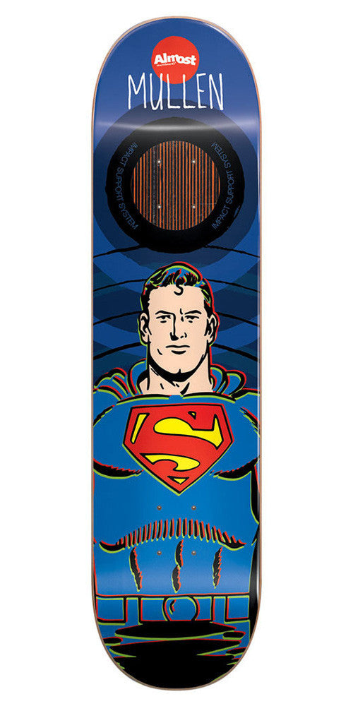 Almost Rodney Mullen Superman Impact Skateboard Deck - Blue - 8.25