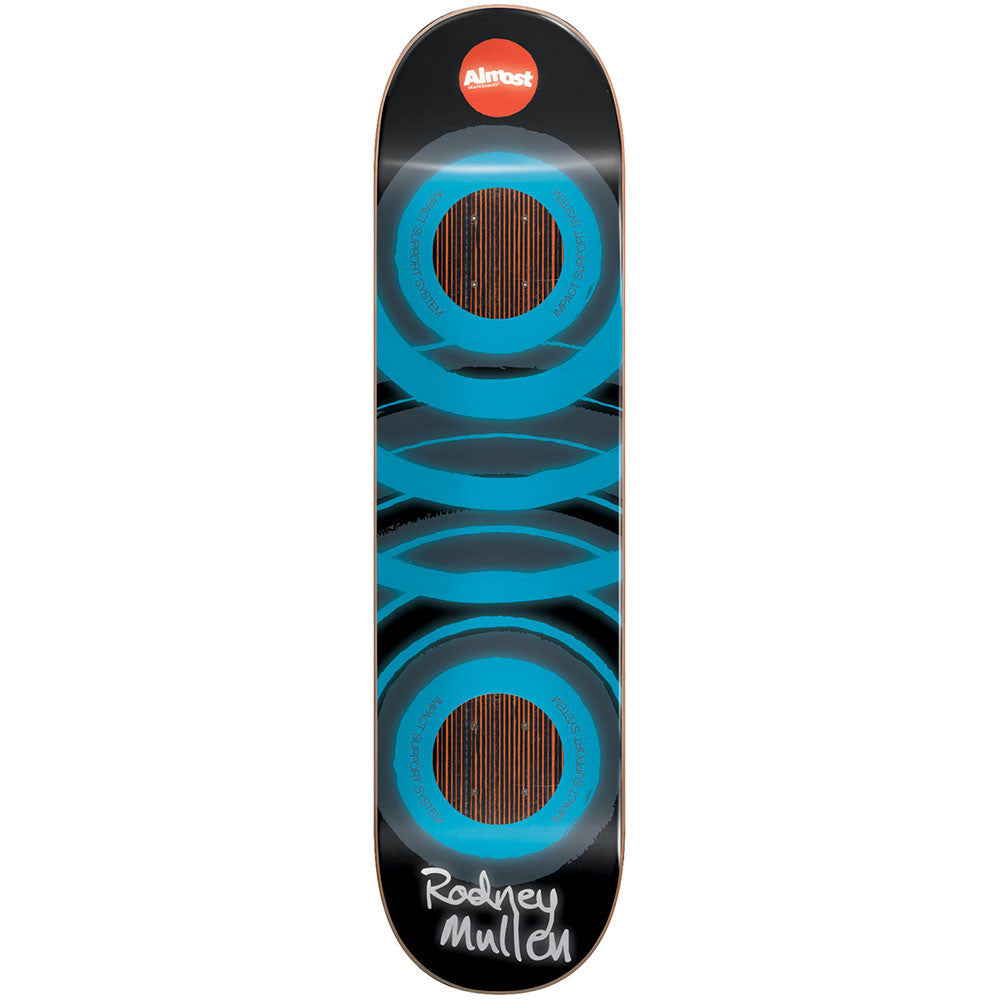 Almost Mullen Glow In The Dark Impact Skateboard Deck - Blue - 7.75