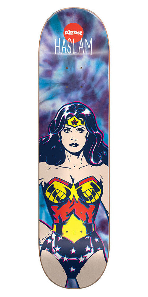 Almost Chris Haslam Wonder Woman R7 Skateboard Deck - Tie Dye - 7.75
