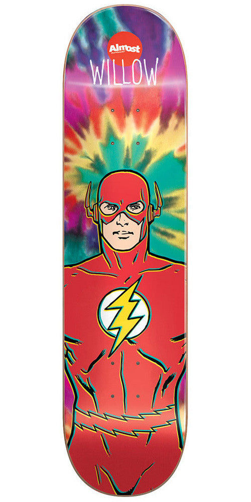Almost Willow The Flash R7 Skateboard Deck - Tie Dye - 8.38