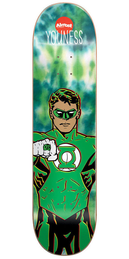 Almost Youness Amrani Green Lantern R7 Skateboard Deck - Tie Dye - 8.25