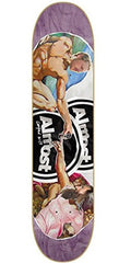 Almost Cooper Sistine Phone Skateboard Deck - Purple/Multi - 8.1in
