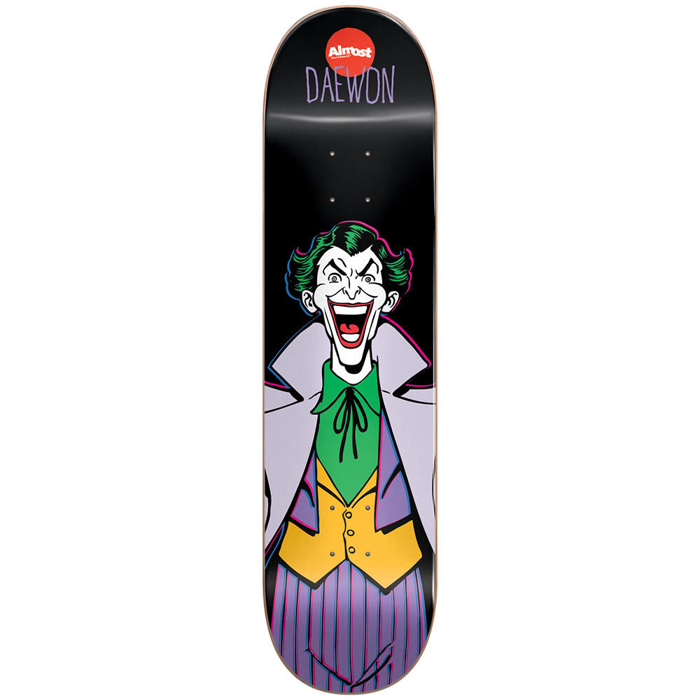 Almost Daewon Song Villain V2 Joker R7 Skateboard Deck - Black - 8.25in