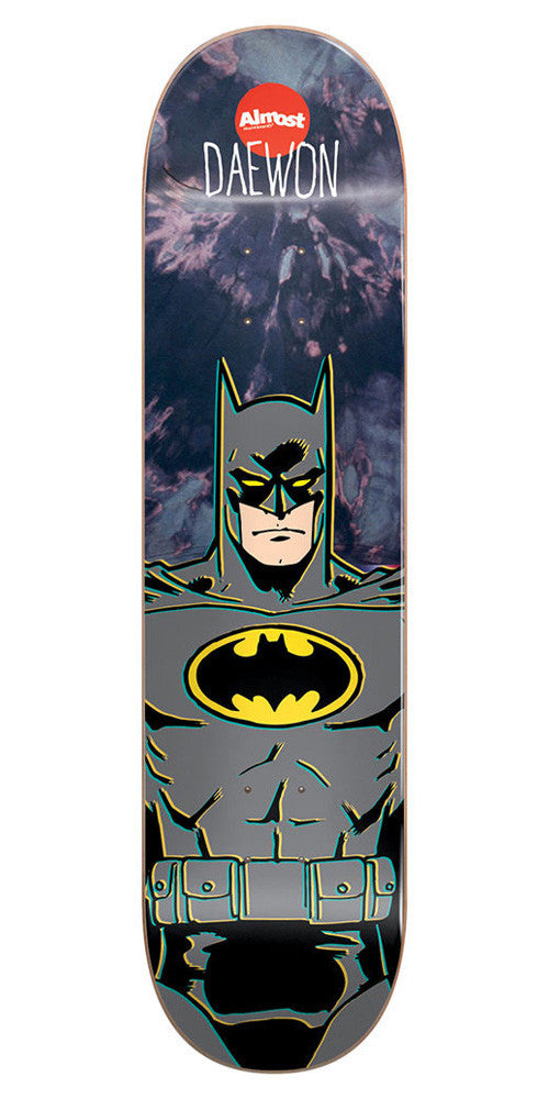 Almost Daewon Song Batman Youth Skateboard Deck - Tie Dye - 7.0