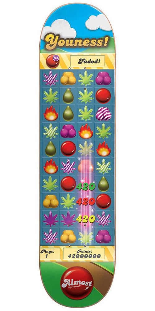 Almost Youness Amrani Candy Kush R7 Skateboard Deck - Multi - 7.75